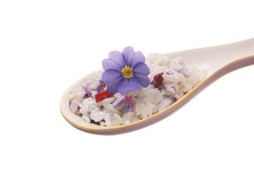 risotto con petali