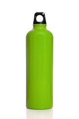 Green reusable water bottle