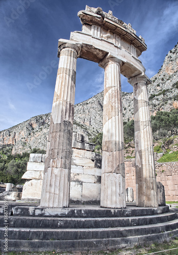 Rotunda of Temple of Athena in Delphi