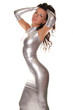 Absolutely Perfect Silver Long Spandex Evening Dress