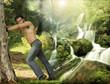 Fototapeta Abs - Wodospad - Mężczyzna