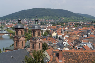 Miltenberg aerial view in sunny ambiance