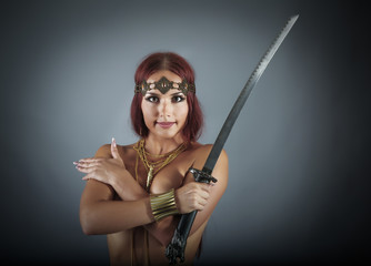 young warrior woman