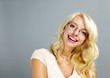 Happy woman wearing glasses