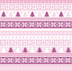 Christmas pattern with traditional motifs