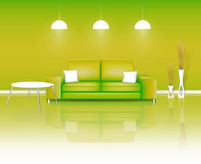 Modern Green Living Space