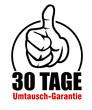 30 tage umtausch-garantie daumen hoch oben button