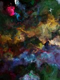 Abstract smudge poster