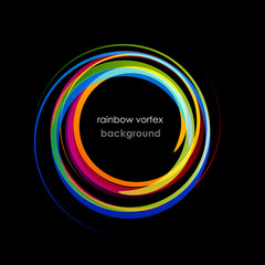 Rainbow Vortex Background # Vector
