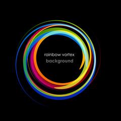 Rainbow Vortex Background # Vector