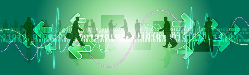 tecnologia, codice, mondo, persone