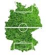 Deutschland Fussballkarte