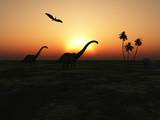 Fototapety Diplodocus caminando