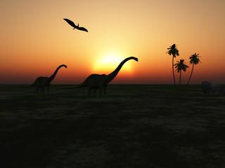 Diplodocus caminando