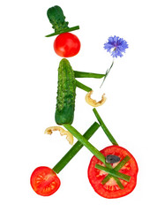Man from vegetables