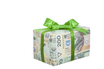 package with money