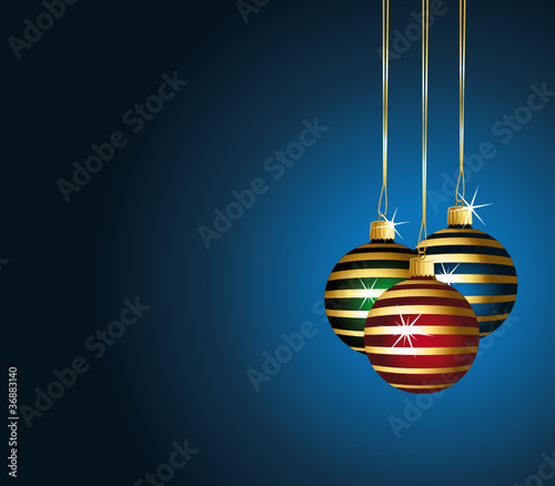 Christmas background striped baubles