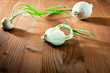white onions on wood