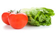 Tomaten und Salatkopf