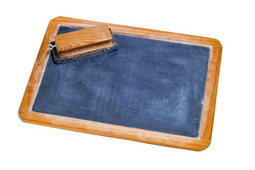 old blackboard and eraser