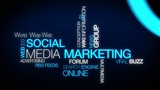Social marketing media tag cloud