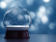 3D Render of snow globe