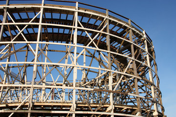 The Wooden Structure of a Large Big Dipper Ride.
