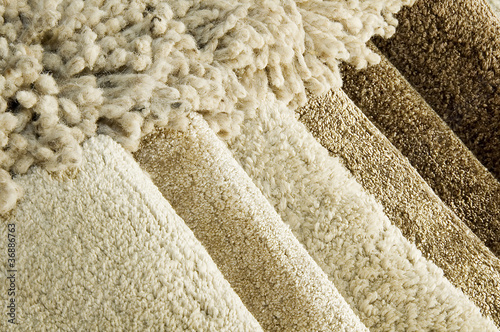 Samples of color of a carpet - 36886763