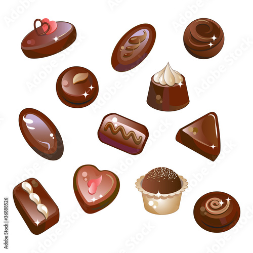 Chocolates, chocolate candy and truffles