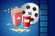 Movie Reel and Pop Corn