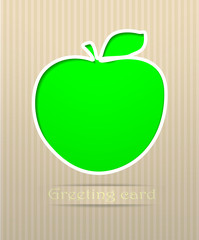 Apple postcard vector illustration