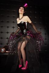 Sexy Burlesque Girl Posing in her 6 inch Fetish Pumps