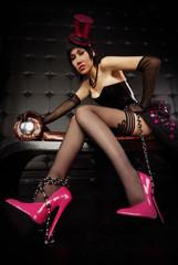 Sexy Burlesque Girl Posing