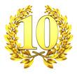ten number laurel wreath