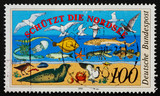 Postage stamp Germany 1990 North Sea Fauna poster