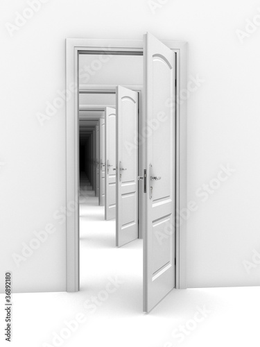 doorway abstract illustration - opportunity, frustration