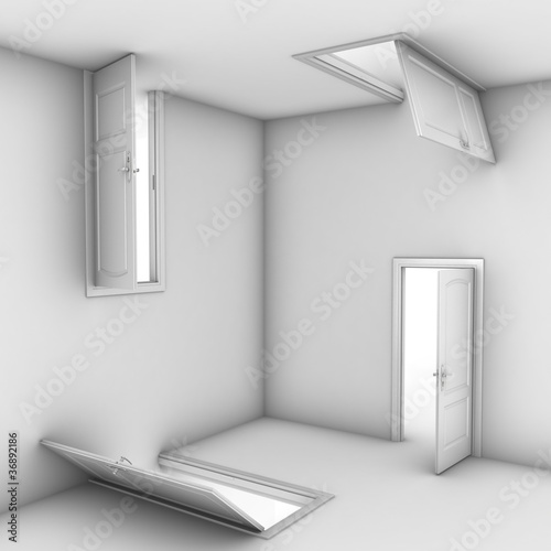 abstract doors