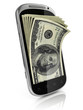 smart phone money earning 3d concept