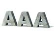 credit rating downgrade - AAA 3d concept