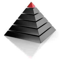 pyramid, hierarchy abstract 3d concept