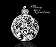 Black And White Christmas Ball
