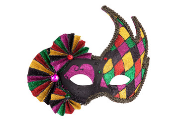 Colorful original festive carnival mask