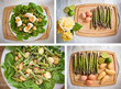 Collection: ingredients for an asparagus salad