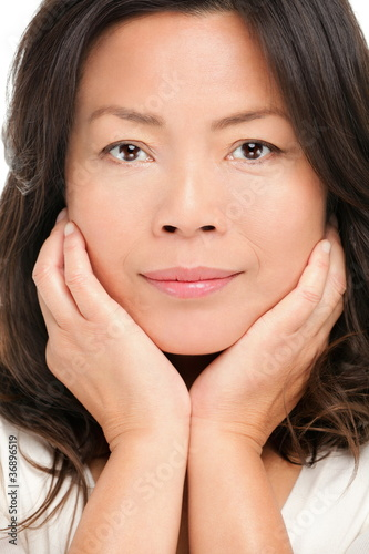 Middle aged asian woman beauty portrait