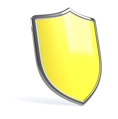 Yellow virus protection shield.