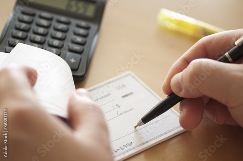 Prepare writing a check