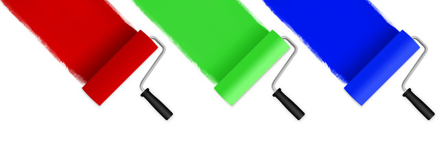 Farbrolle RGB 45° Winkel