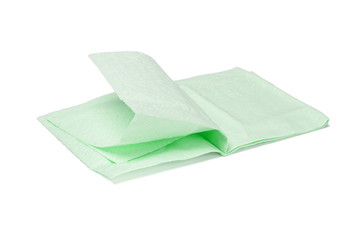 Green facial tissue paper