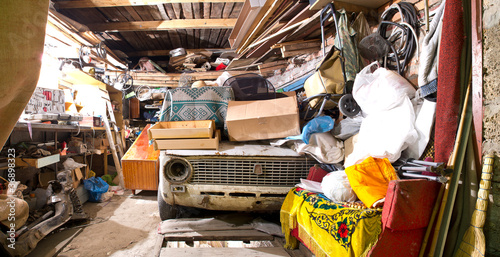canvas print picture Garage inside