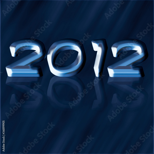 Blue cool new year background